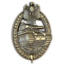 Tank assault badge in bronze