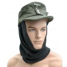Toque balaclava pipe-scarf dark-gray