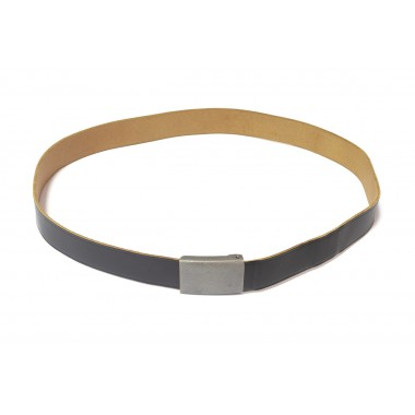 Leather trousers belt with grain buckle of Bundeswehr