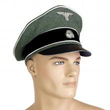 SS infantry officer peaked cap crusher