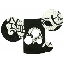 SS skull for (side-) cap white