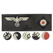 Heer Panzer side-cap insignia set eagle + cockade