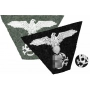 SS trapezoid cap insignia eagle and skull - discount