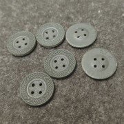 Button 17 mm 4 holes cardboard for clothes