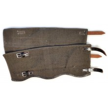 Gaiters variant 1 early, black leather