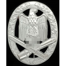 General assault badge in silver