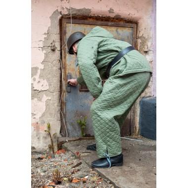 Luftwaffe winter suit green diamond stitch jacket+pants