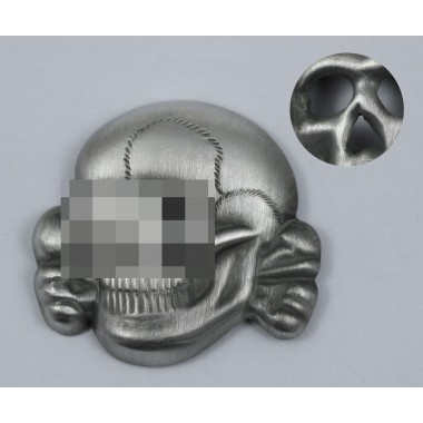 SS peaked cap skull patina metal variant 2