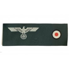 Heer side-cap insignia set eagle + cockade 1937