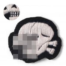 SS skull grey thread