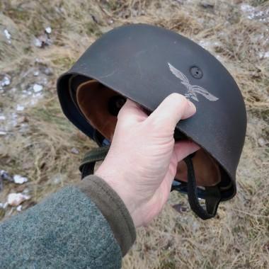 Aged helmet Luftwaffe M38, single-decal