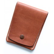 Leather shaver-case with a press-button