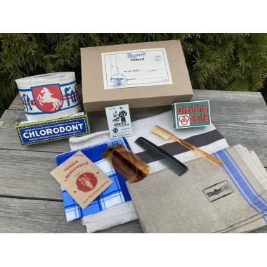 SS hygiene kit: soap, comb, towel, mirror