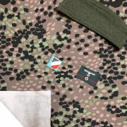Camouflage fabric textile Dot Pea Erbsentarn discounted