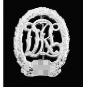 Silver sports badge
