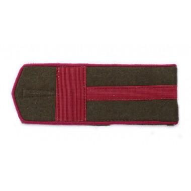 RKKA shoulder boards: first sergeant of infantry