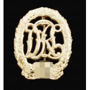 Golden sports badge