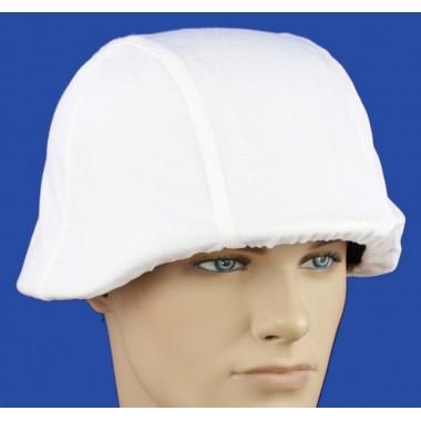 Winter white helmet cover