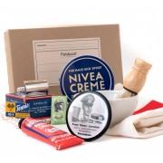 Shaving set: shaver, brush, mirror, Nivea cream