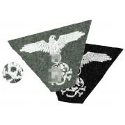 SS trapezoid cap insignia eagle and skull