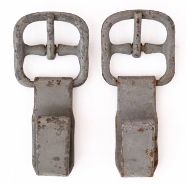 Pair of original steel front hooks for Y-strap