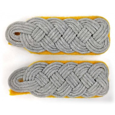 Senior officers shoulder boards on yellow
