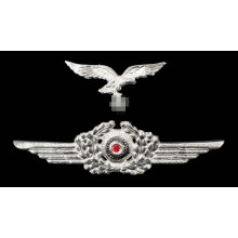 Metal eagle and cockade for Luftwaffe peaked-cap set