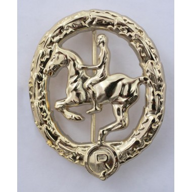 German horseman's badge in gold