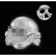SS peaked cap skull silver metal variant 1