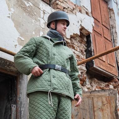 Luftwaffe winter jacket green diamond stitch