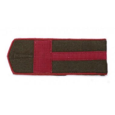RKKA shoulder boards: first sergeant of artillery or armoured