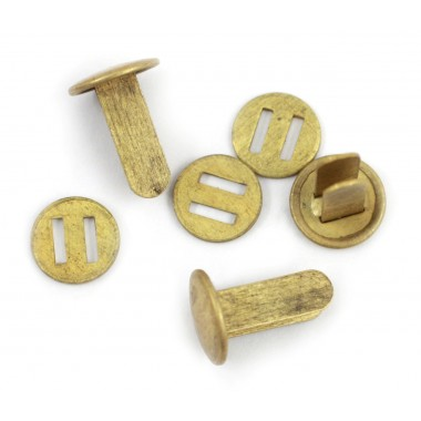 Brass split-pins for German helmet