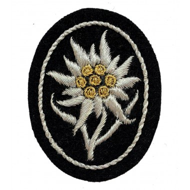 Edelweiss insignia of mountain troops for SS officer