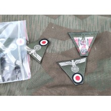 Heer cap insignia trapezoid pre-folded