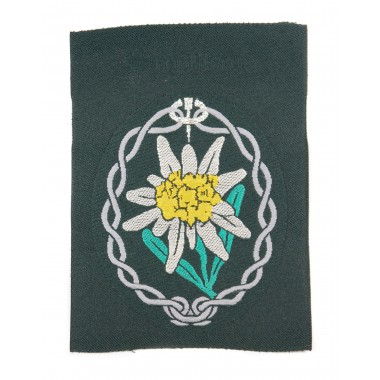 Edelweiss BeVo Heer mountain troops' sleeve insignia