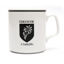 Mug with edelweiss of the 1st mountain division