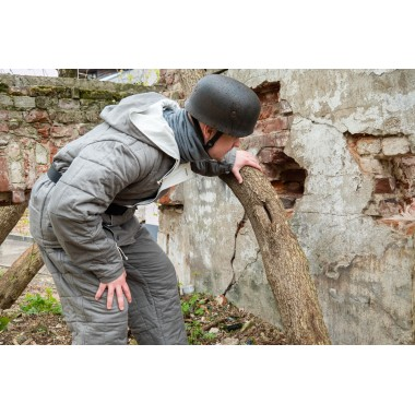 Luftwaffe winter suit gray rectangular stitch jacket+pants