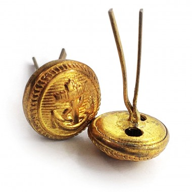 Buttons (pins) for peaked-cap golden Kriegsmarine