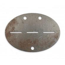Blank steel WW2 dog-tag