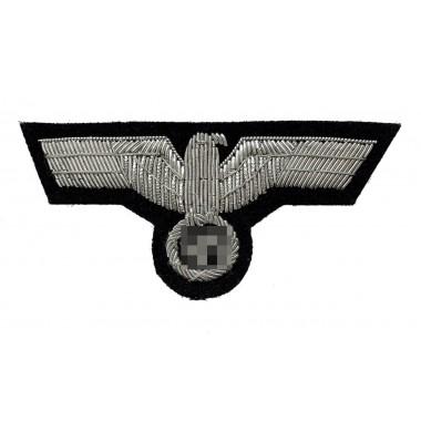 Heer tank officer's breast eagle for field jacket on black