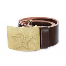 Sinthetic belt with brass buckle Soviet army