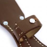Pin peg for equipment strap bayonet pear-shape