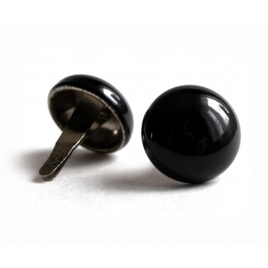Buttons (pins) for peaked-cap black