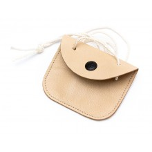 Dog-tag leather case with a snap-button