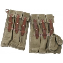 Early pouch MP-38/40 brown leather