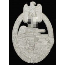 Tank assault badge silver