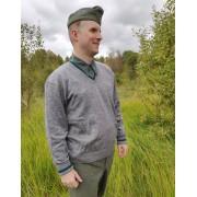 Sweater pullover V-neck ash colour
