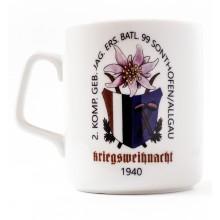 Mug Christmas 1940 mountain battalion 99