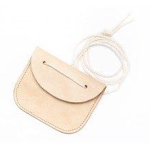 Dog-tag ID disk leather case wallet