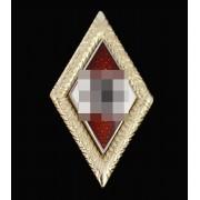 Golden HJ pin badge